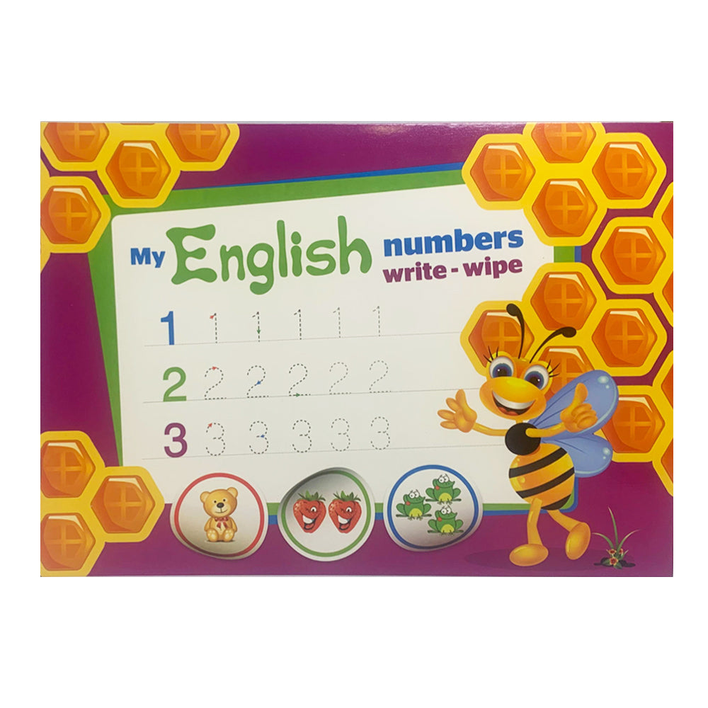 My English Numbers - write and wipe