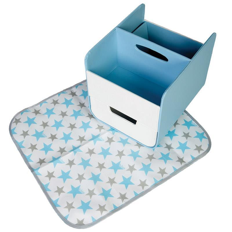 B.Box Diaper Caddy with Changing Mat - Blue Lagoon