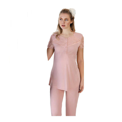 FC Fantasy 1181 Maternity Pyjamas Set, Pink