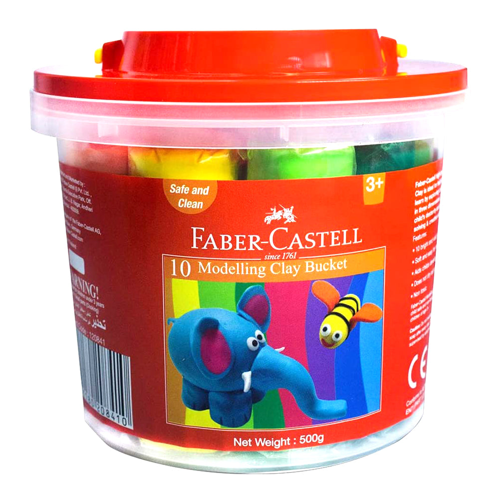 Faber Castell 10 Modelling Clay Bucket - 500 gm