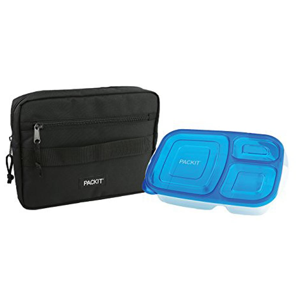 PackIt Freezable Bento Bag with Container - Black