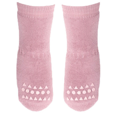 GoBabyGo Non-Slip Socks, Dusty Rose