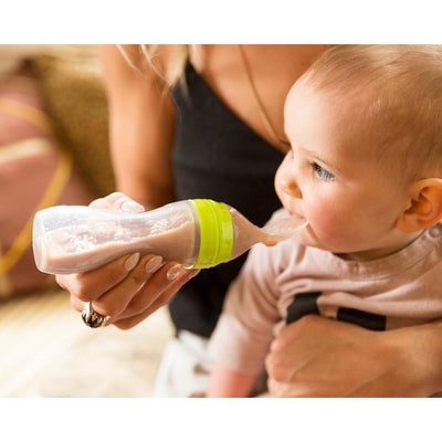 Haakaa Silicone Baby Food Dispensing Food Spoon - Green