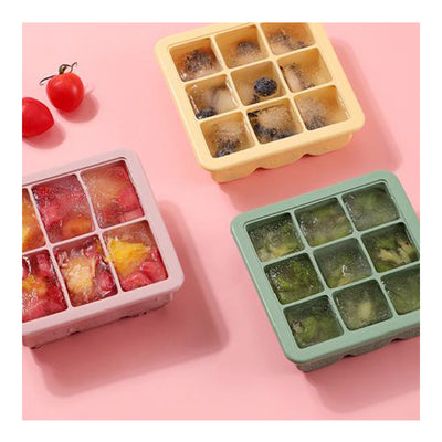Haakaa Baby Food and Breast Milk Freezer Tray - 9 Compartments - Blush