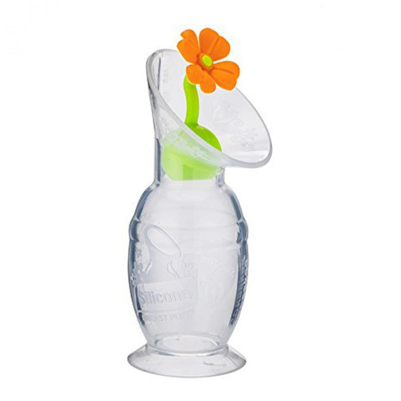 Haakaa Silicone Breast Pump Flower Stopper - Orange