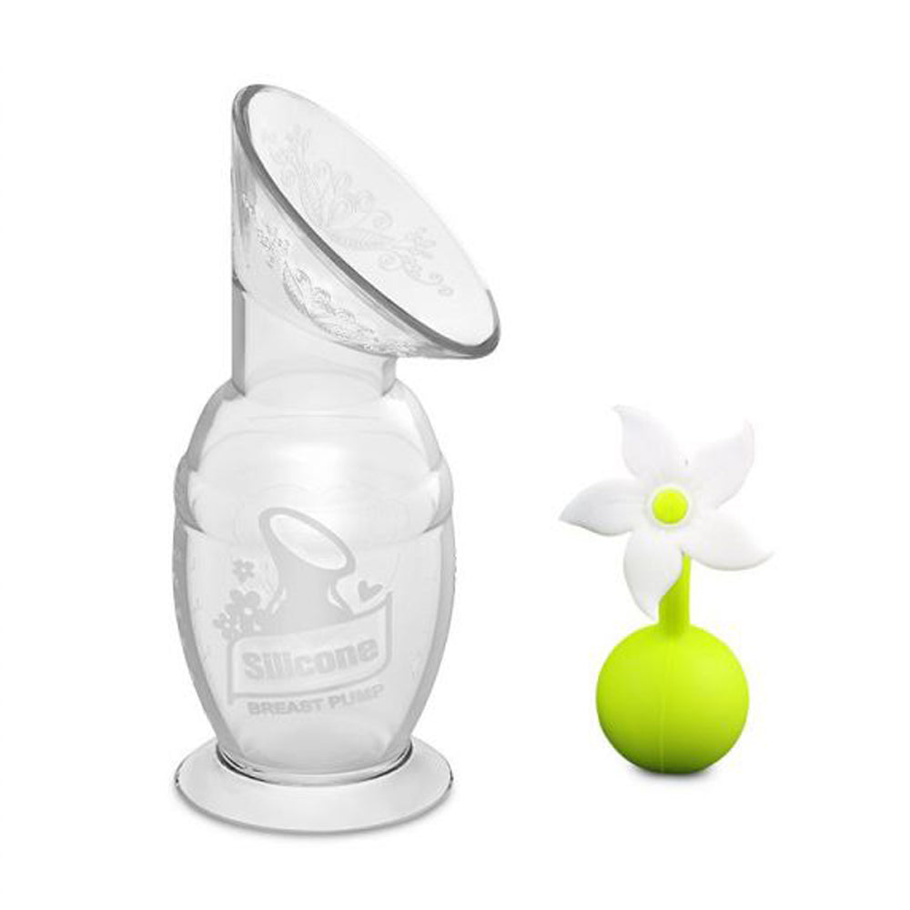 Haakaa Silicone Breast Pump and White Flower combo, 150ml