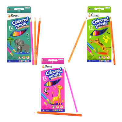 Happy kids coloured pencils animal paradise, 12 colors