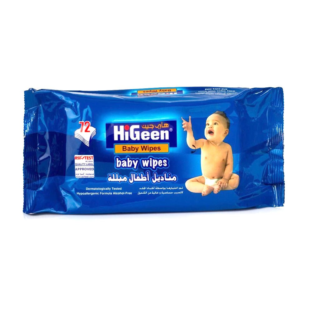 HiGeen Baby Wipes, 72 Wipes