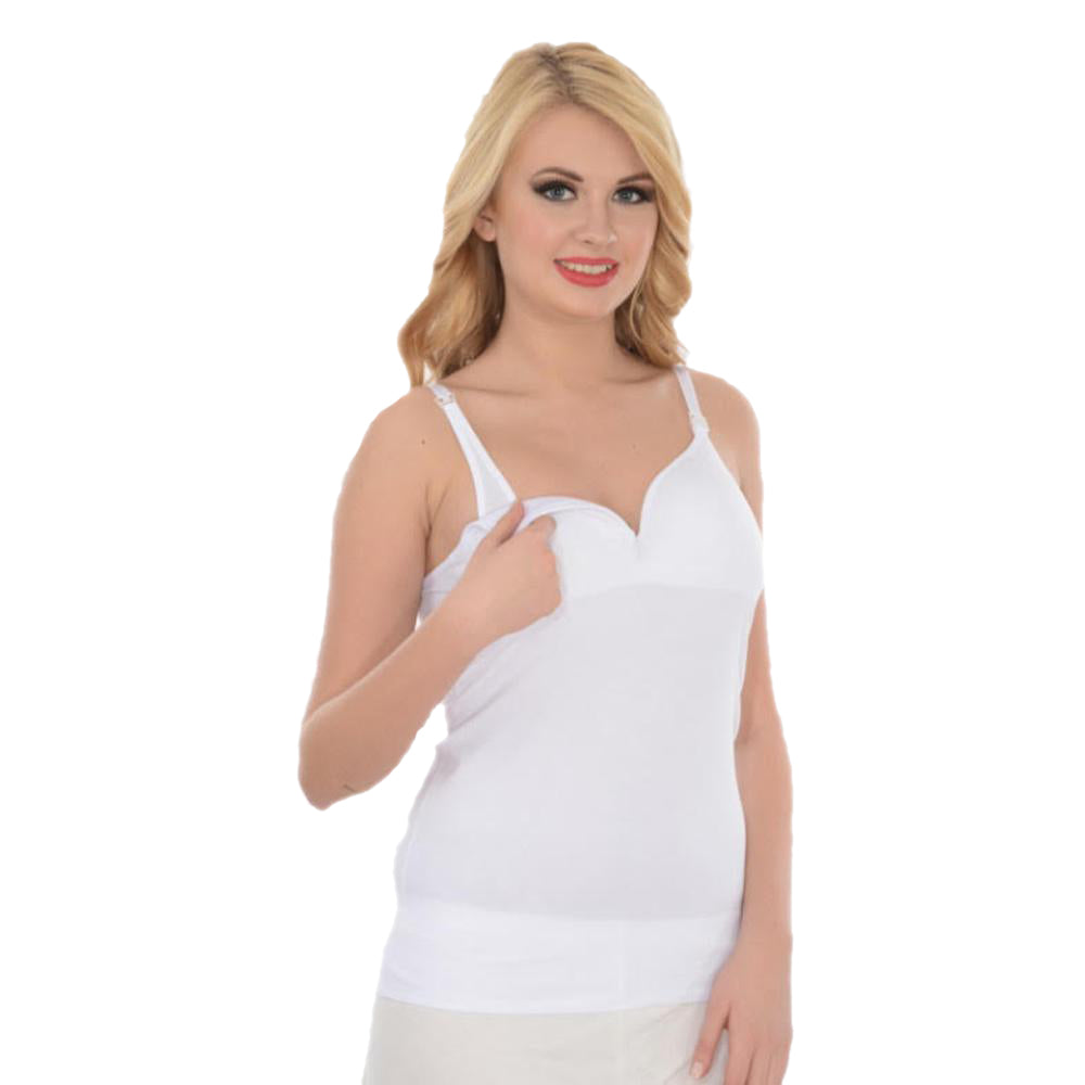 Imer Nursing Tank Top 1288 - White