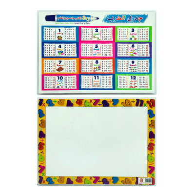 A4 Write and Wipe, Arabic Multiplication table