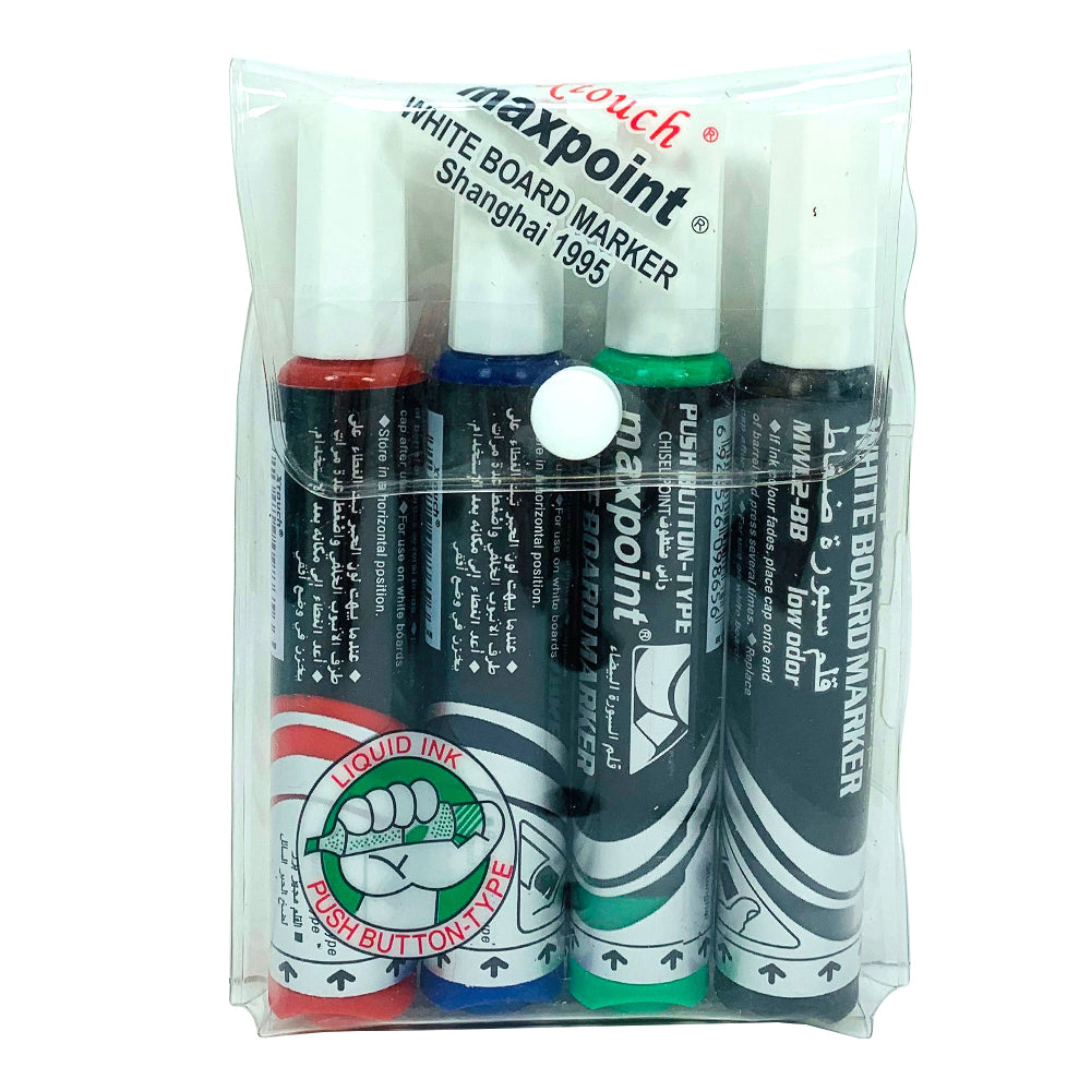 Max point whiteboard marker, pack of 4