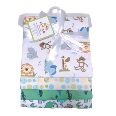 Dinosaur & Jungle - Flannel Swaddle Receiving Baby Blanket