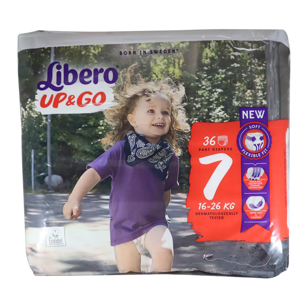 Libero Size 7 - XL Plus (16-26 kg) Up & Go Pants, 36 diapers