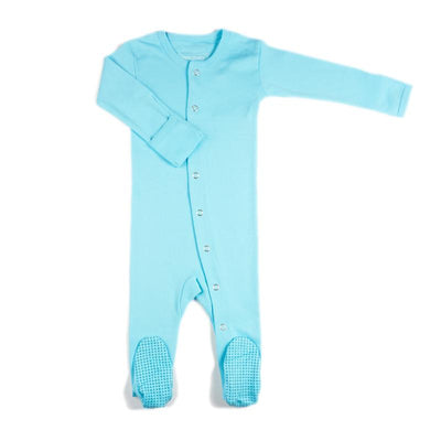 L'ovedbaby Organic Cotton Gloved Sleeve Overall - Aqua