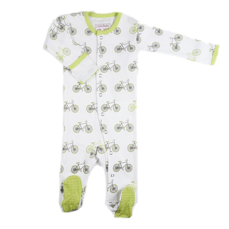 L'ovedbaby Organic Cotton Lime Sleepsuit