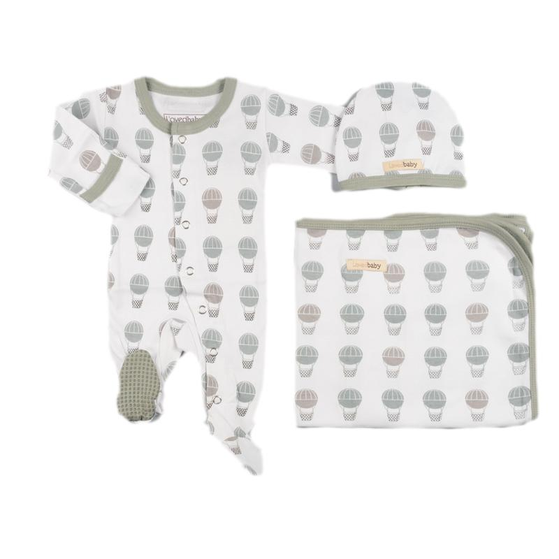 L'ovedbaby Organic Cotton Seafoam Hot Air Balloon Set
