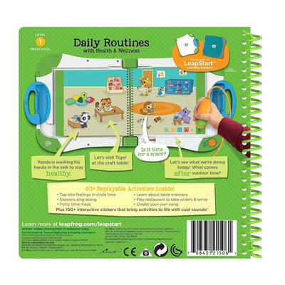 LeapFrog Preschool Activity Book Daily Routines and Health Wellness Educational Kids