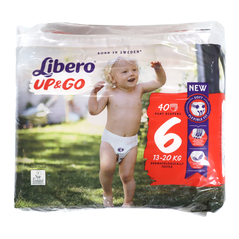 Libero Size 6 (13-20kg) Pants up and go, 40 diapers