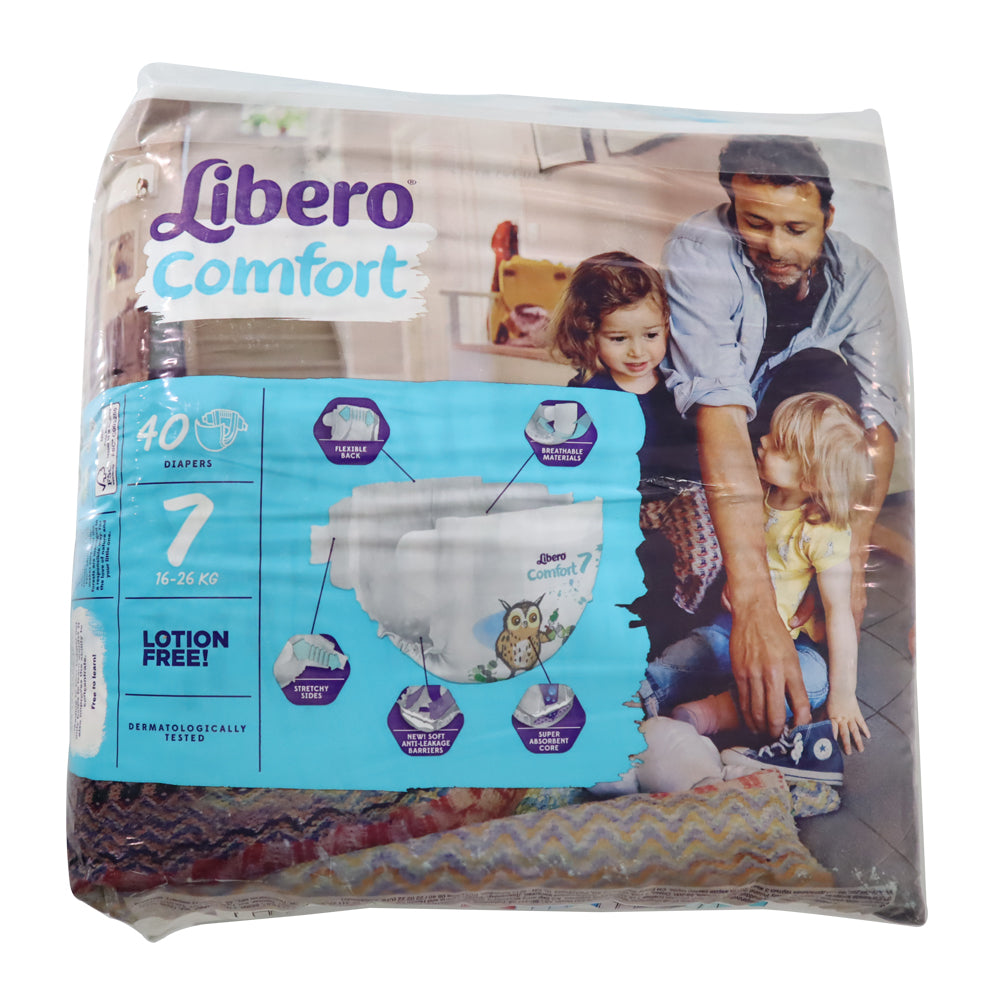Libero Size 7, Diaper Comfort XL Plus - 40 Diapers