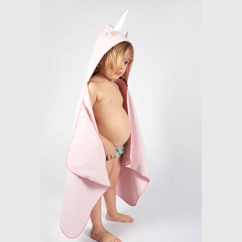 Little Champions Autonomy hooded towel Unicorn Light Pink