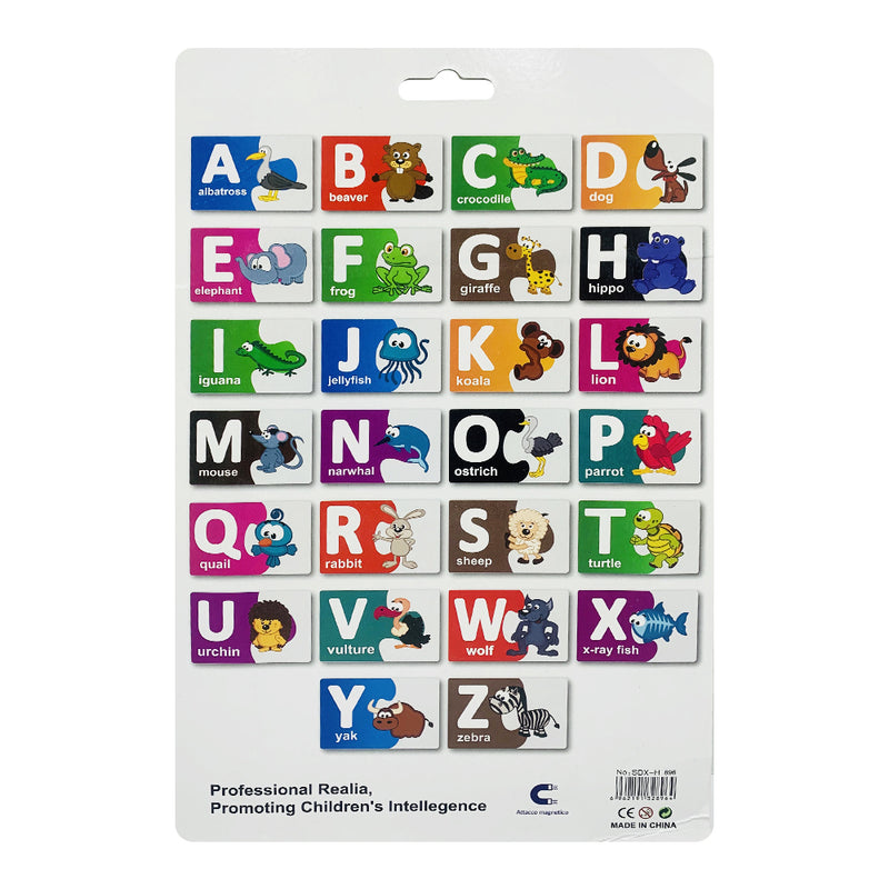 "Magnetic card alphabet ""English"", 26 Pieces"