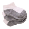 Mama's First White Socks with Grey, 0-4 Years, Pack of 3