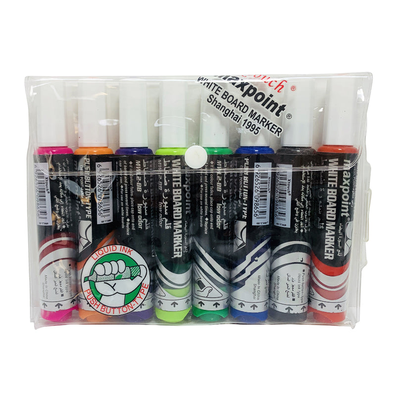 Max point whiteboard marker, pack of 8