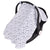 Sevi Bebe Muslin Infant Car Seat Cover - Grey Star