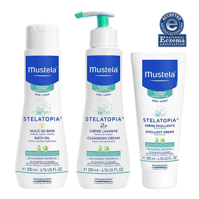 Mustela Eczema-Prone Skin Bath Kit