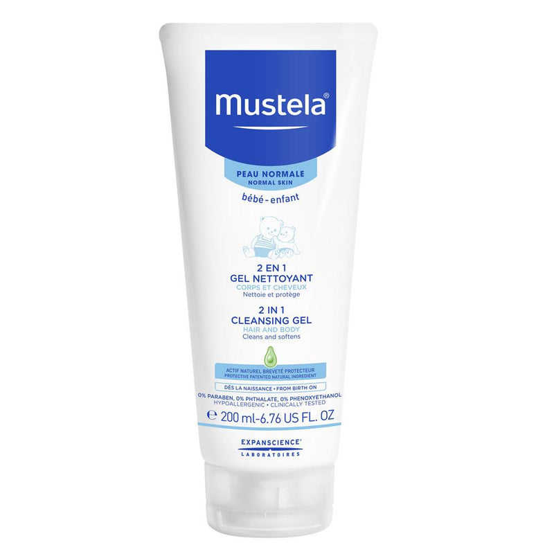 Mustela 2 in 1 Cleansing Gel for Hair and Body, 200Ml