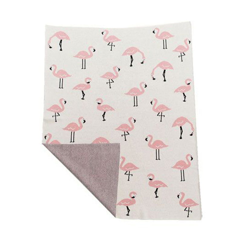 NIU ORGANIC COTTON BLANKET FLAMINGO
