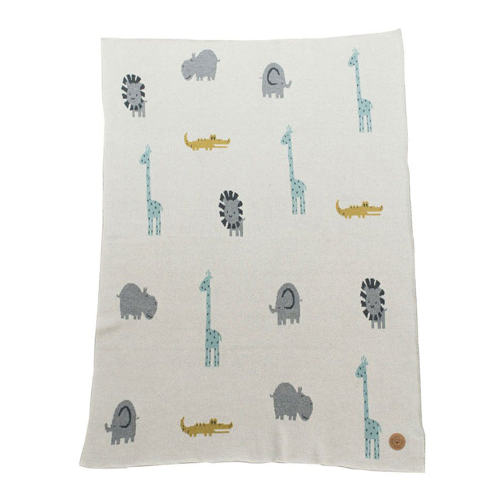 NIU ORGANIC COTTON BLANKET JUNGLE