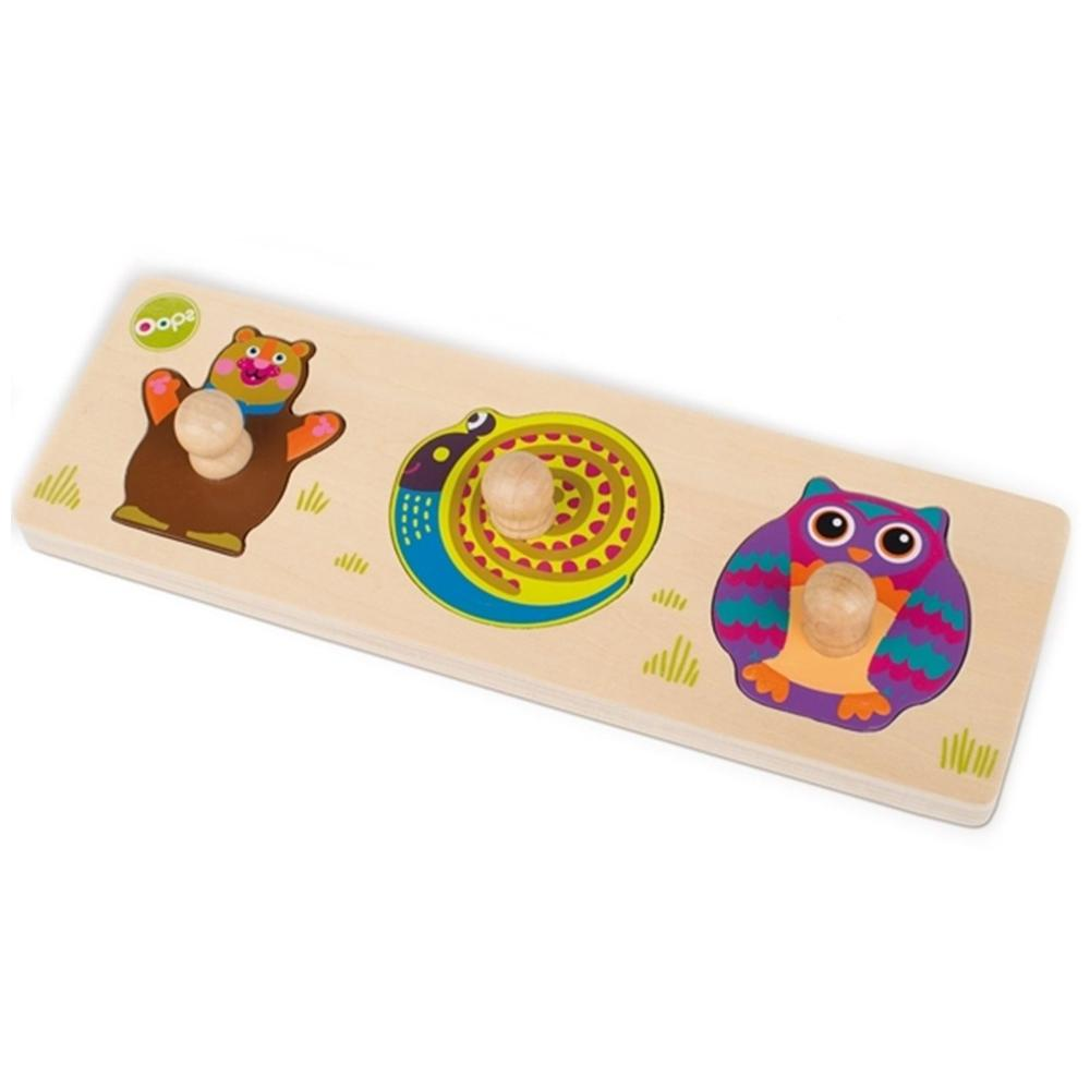 OOPS Easy-Shapes! Forest wooden puzzle, 12 Months+