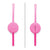 Omielife Fork, Spoon Pod Set Bubble Pink