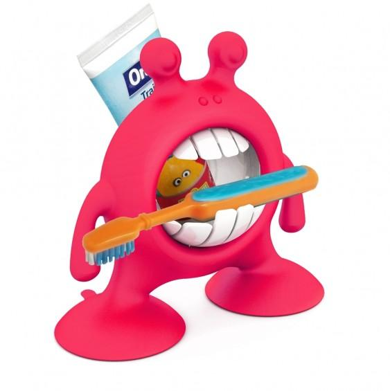 Prince LionHeart Eye Smile toothbrush and paste storage - Flashbulb Fuschia