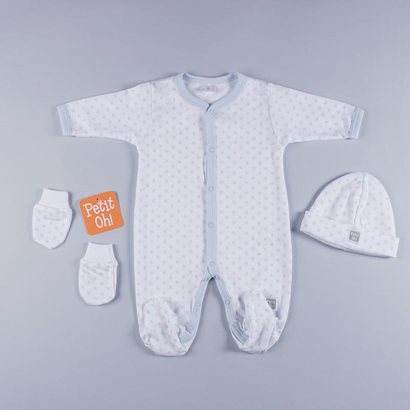 Petit Oh! 3-Piece Dotted Layette Set