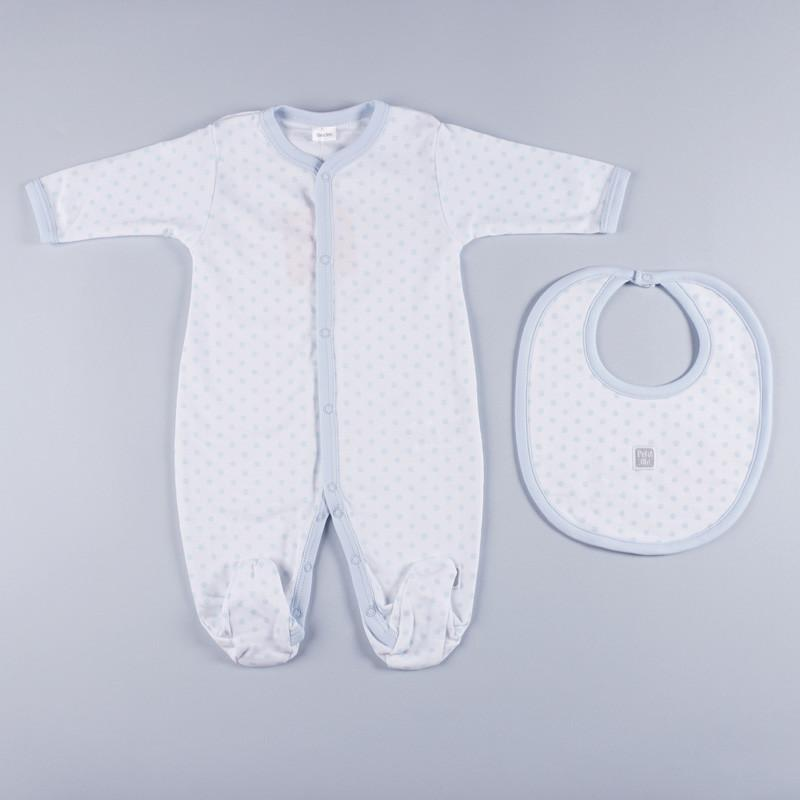 Petit oh! 2-Piece Dotted Layette Set - Blue