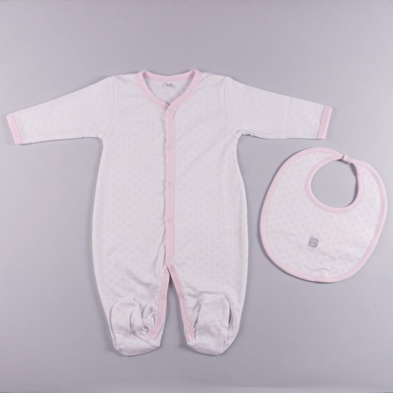 Petit oh! 2-Piece Dotted Layette Set