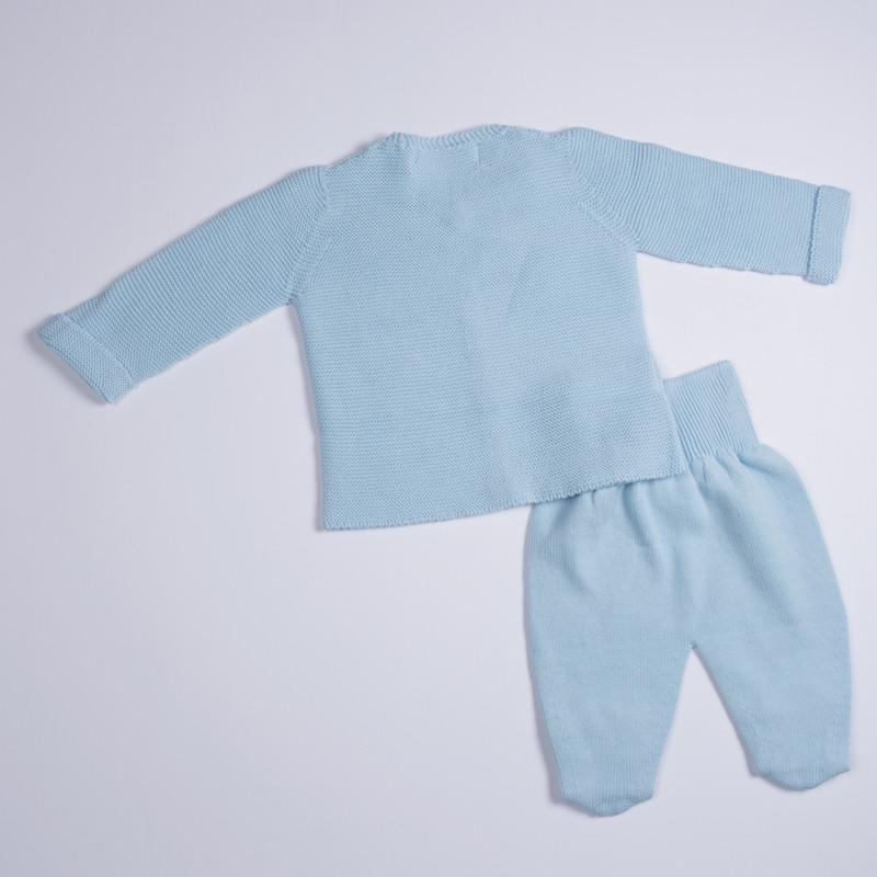 Petit Oh! 2-Piece Knitted Cardigan Set - Blue