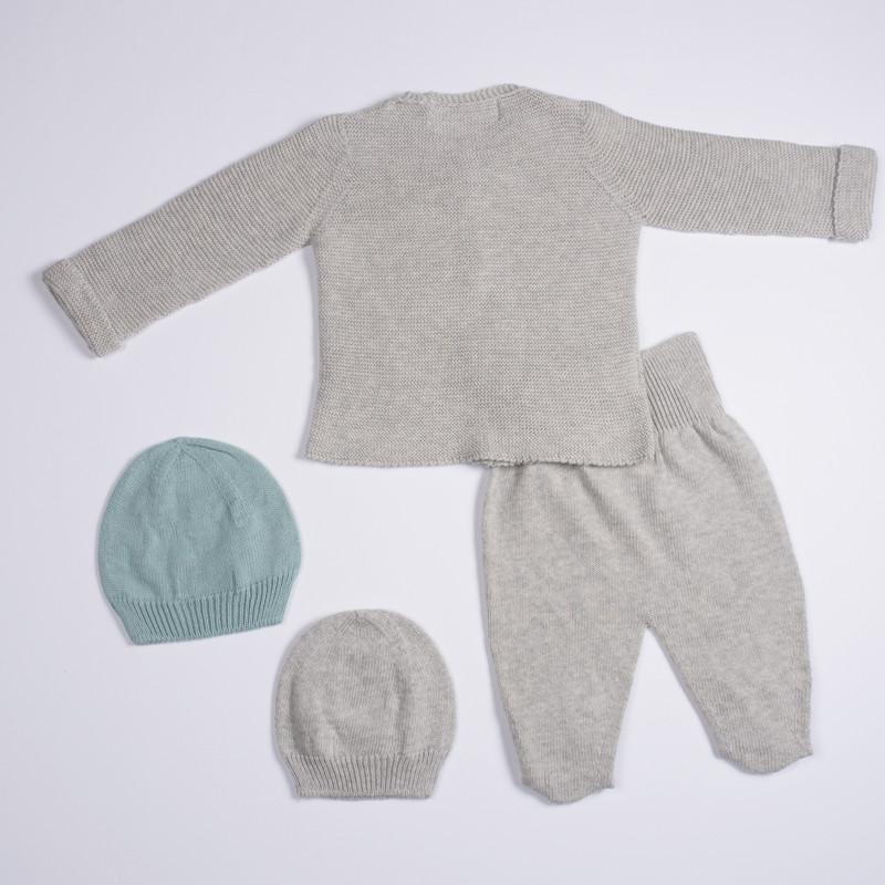 Petit Oh! Pima Cotton 4-Piece Knitted Cardigan Set