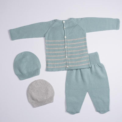 Petit Oh! Pima Cotton 4-Piece Knitted Round Neck Set