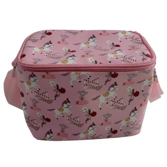 POWELL CRAFT PINK PONY PRINT LUNCH BAG