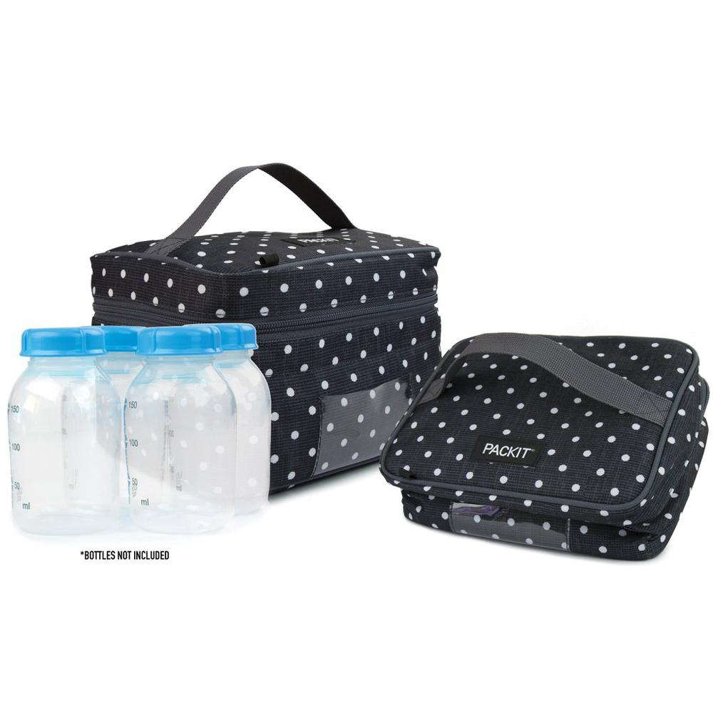 PackIt Freezable Breast milk & Formula Cooler - Polka Dots