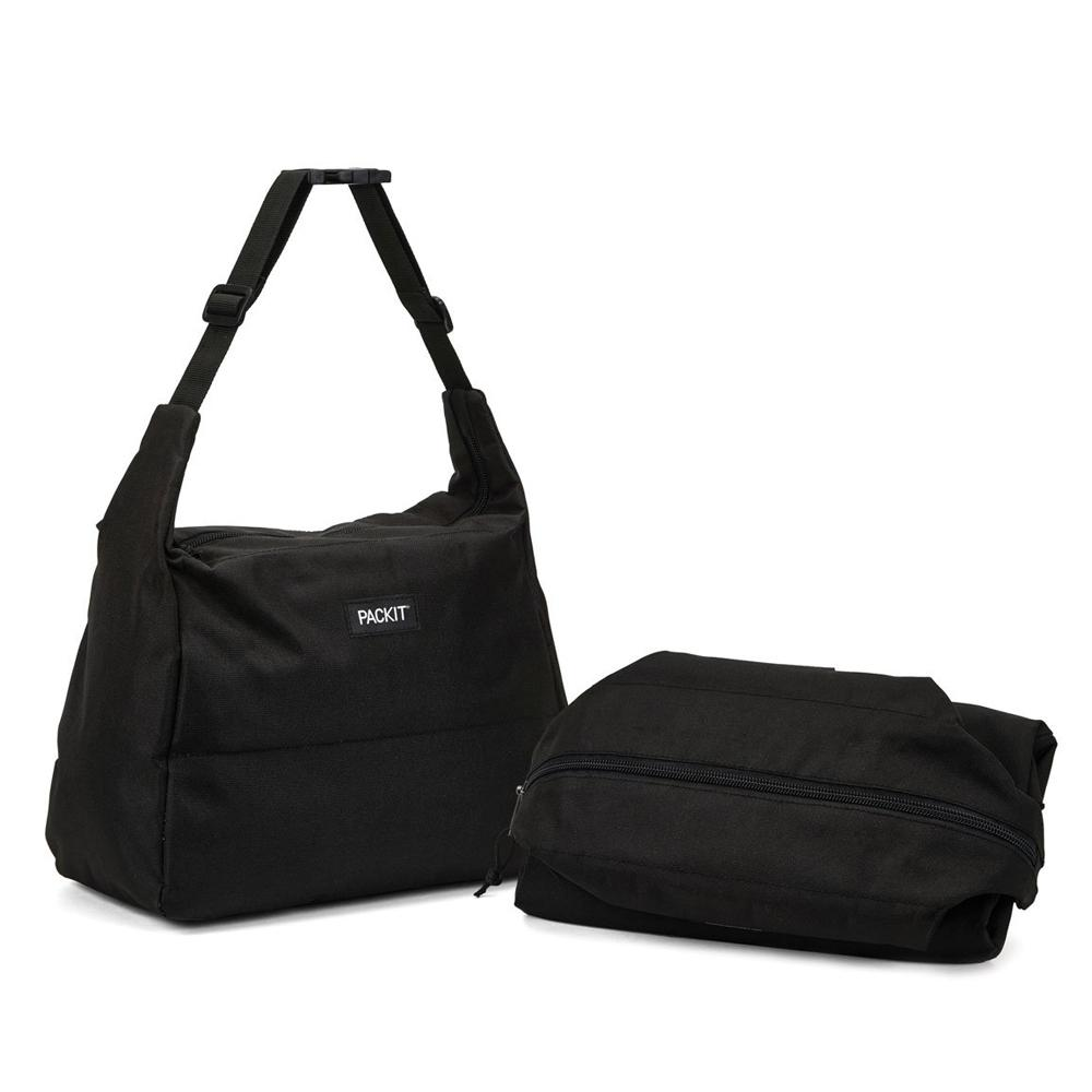Packit Freezable Hobo Lunch Bag Black