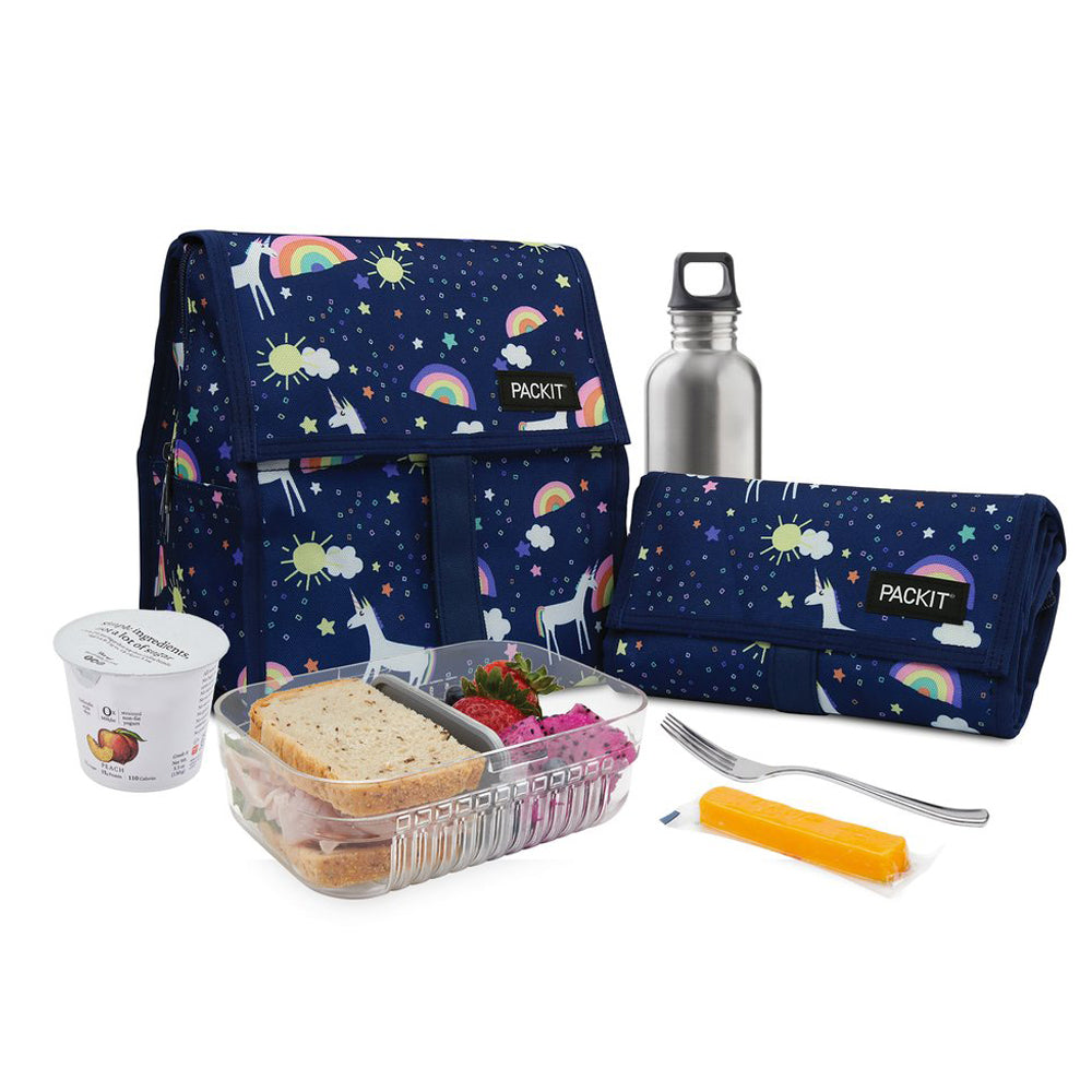 Packet Freezable Lunch Bag Unicorn Sky