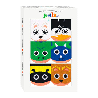 Pals Socks Lil Friendies Baby Socks Box - 6-12 Months