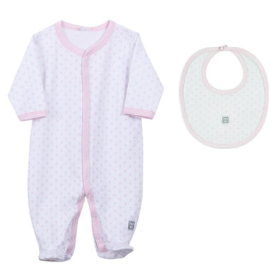 Petit Oh! Pima Cotton Pink 2-Piece Dotted Layette Set