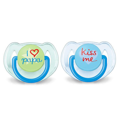 Philips Avent Classic Pacifiers 6-18 Months, I Love Papa