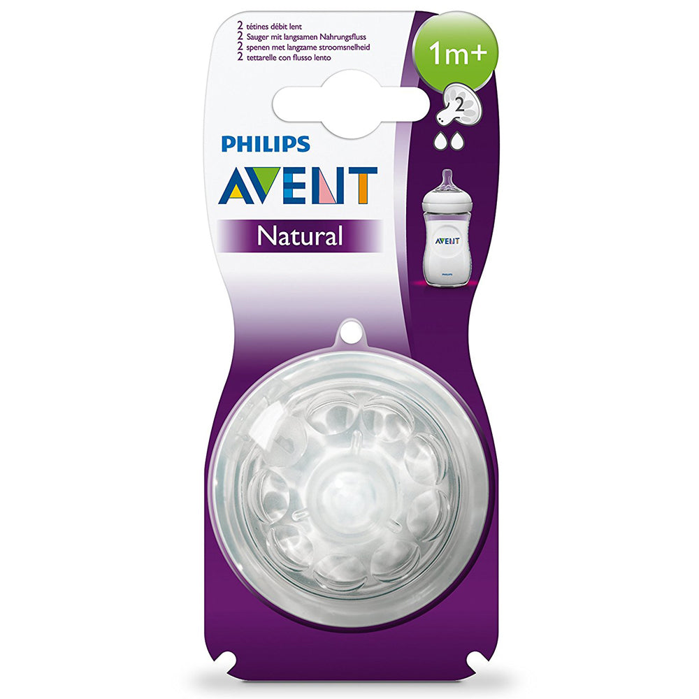 Philips Avent Natural Feeding Nipple, 1 Month+ Pack of 2