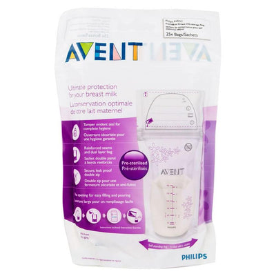 Philips Avent BREAST MILK STORAGE BAGS 180ML, pack of 25